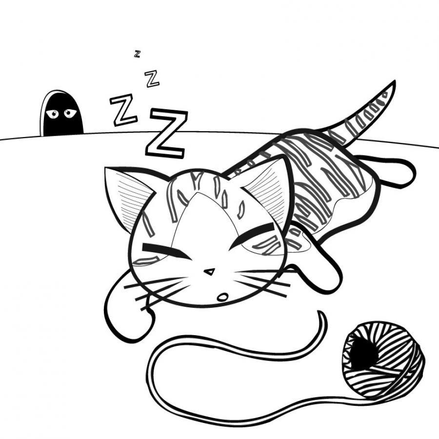 Coloriage de petits chatons - Coloriage chat a imprimer ...
