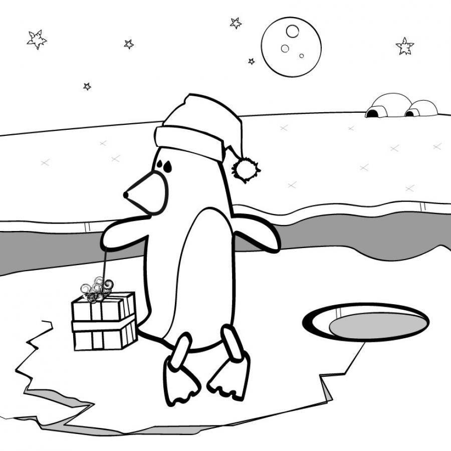coloriage dun pingouin