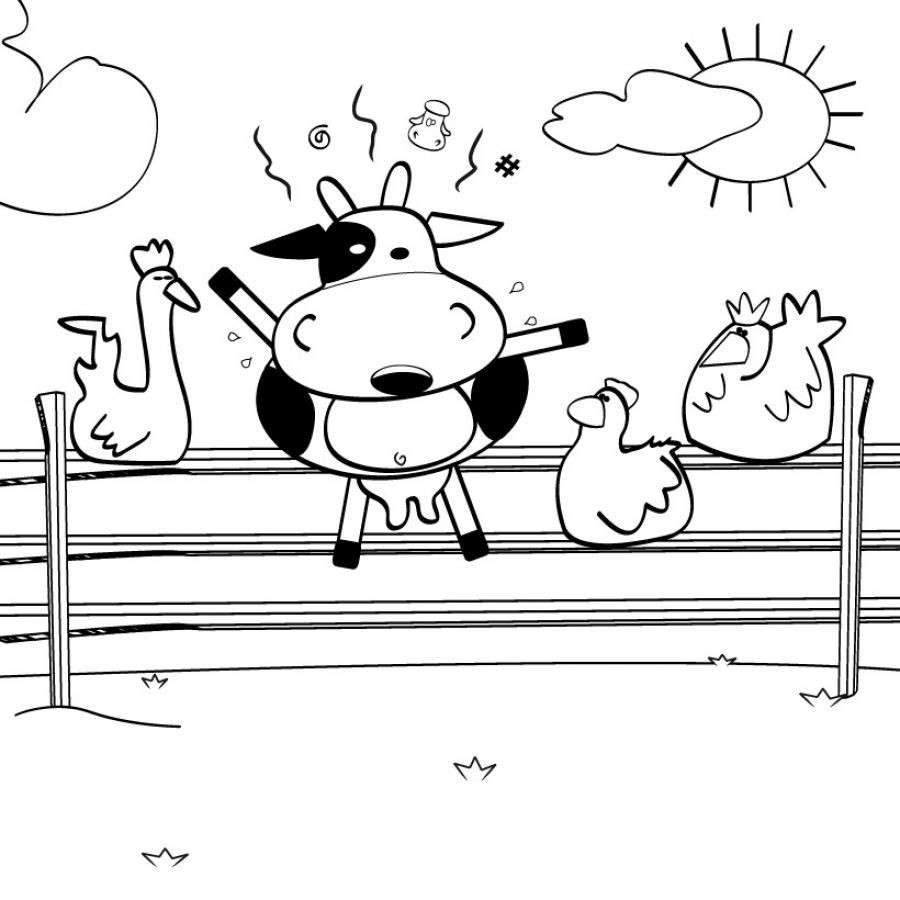 Dessin a colorier d une ferme - Dessin d une ferme ...