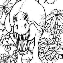 Coloriage : Dinosaure effrayant