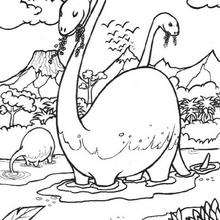 Coloriage : Dinosaures herbivores