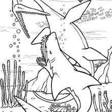 Coloriage : Dinosaures marins