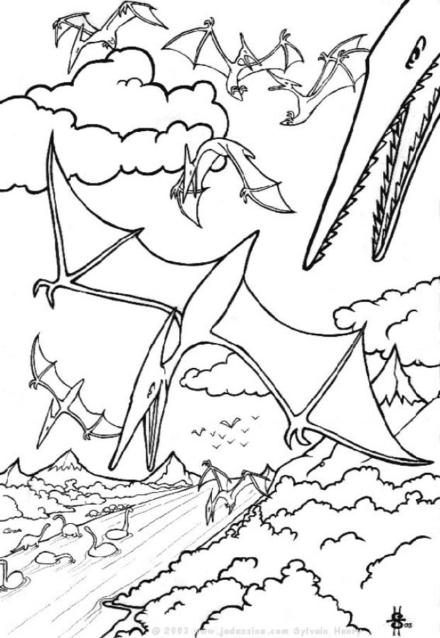 Coloriages dinosaures volants - Dinosaur volant ...