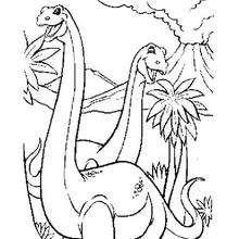 Coloriage : Diplodocus
