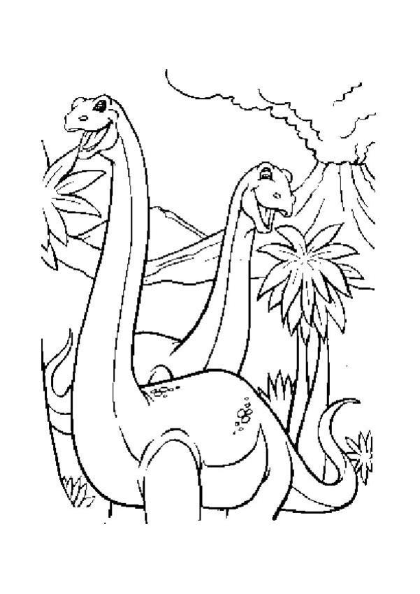Coloriages Diplodocus Fr Hellokids Com