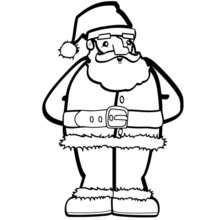Coloriage du père-Noël