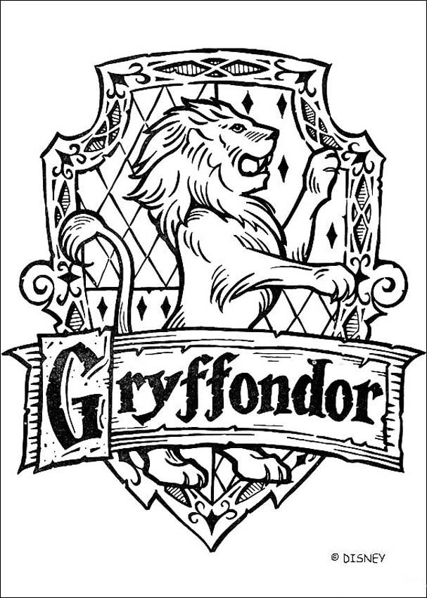 Coloriages le blason de gryffondor - Harry potter blason ...