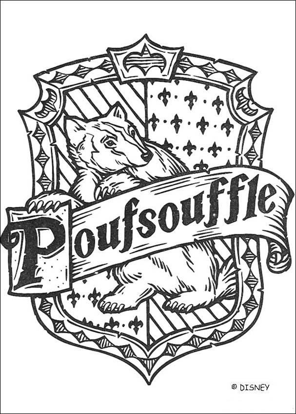 Coloriage Harry Potter : Le blason de Poufsouffle