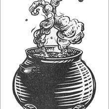 Le chaudron de potion magique