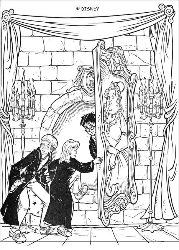 Coloriages passage secret - Coloriage harry potter ...