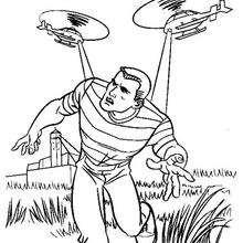 Coloriage : L'homme de sable en fuite