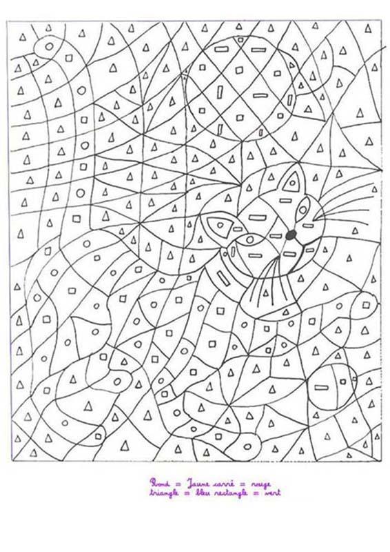 Coloriage Code.Coloriages Moyenne Section De Maternelle Fr Hellokids Com