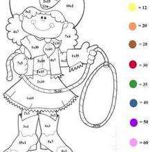 Coloriage magique : Multiplier par 5, multiplier par 10