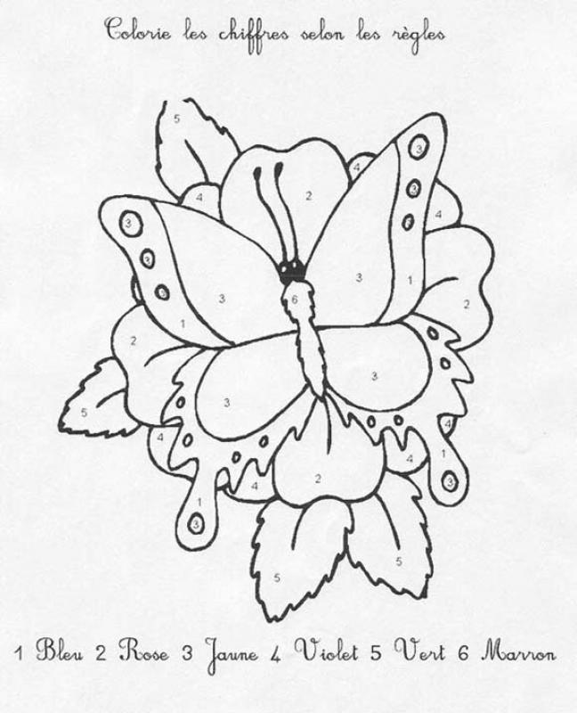 Coloriages papillon - Coloriage en ligne papillon ...