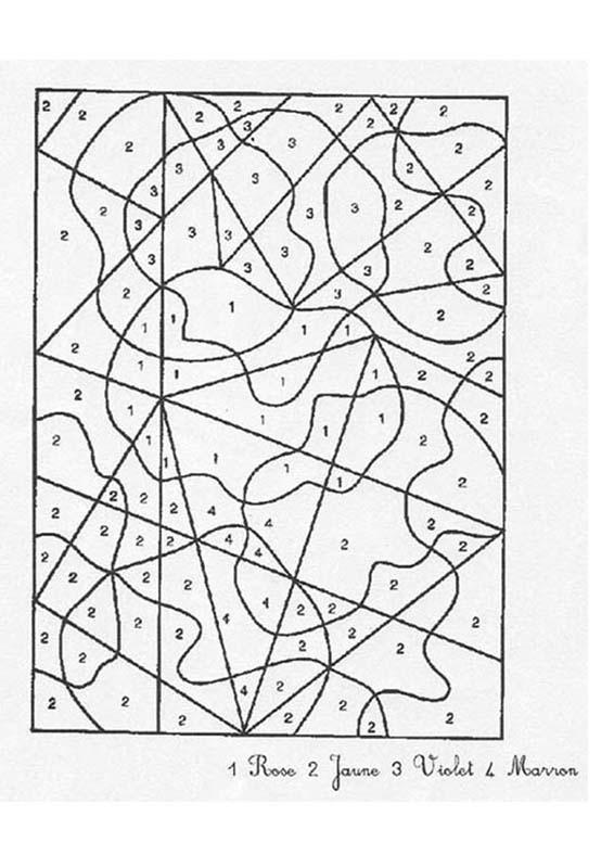 Coloriages simples chiffres - Dessin avec des chiffres ...