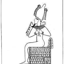 Osiris sur le trône