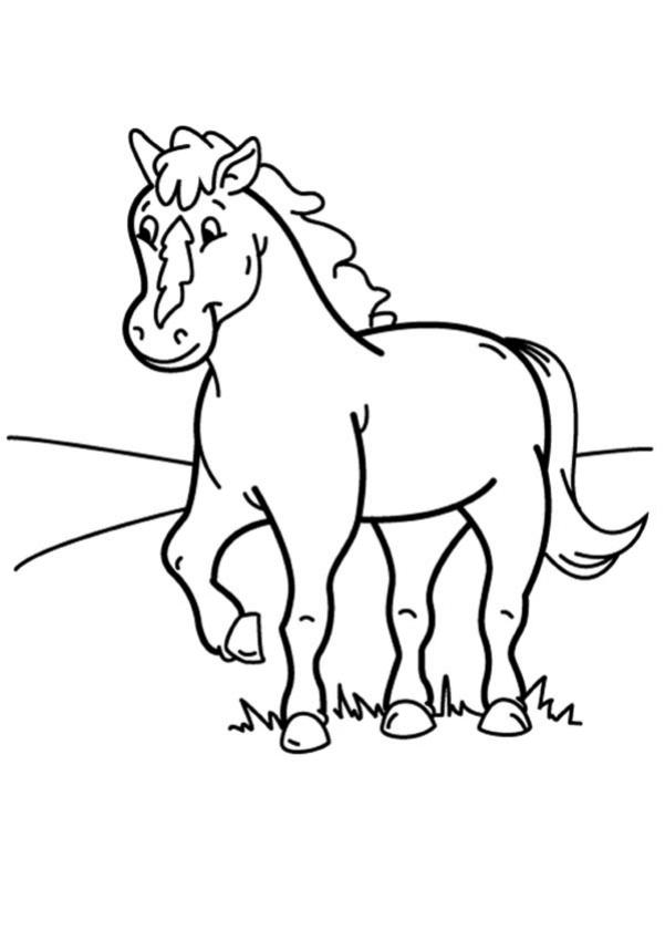 Coloriages poney - Coloriage poney ...