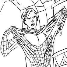 Coloriage : Spiderman arrache son costume