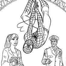 Coloriage : Spiderman reçoit les clés de la ville