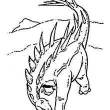 Coloriage : Stegosaure agressif