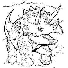 Coloriage : Triceratops