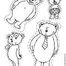 Colorie la famille ours