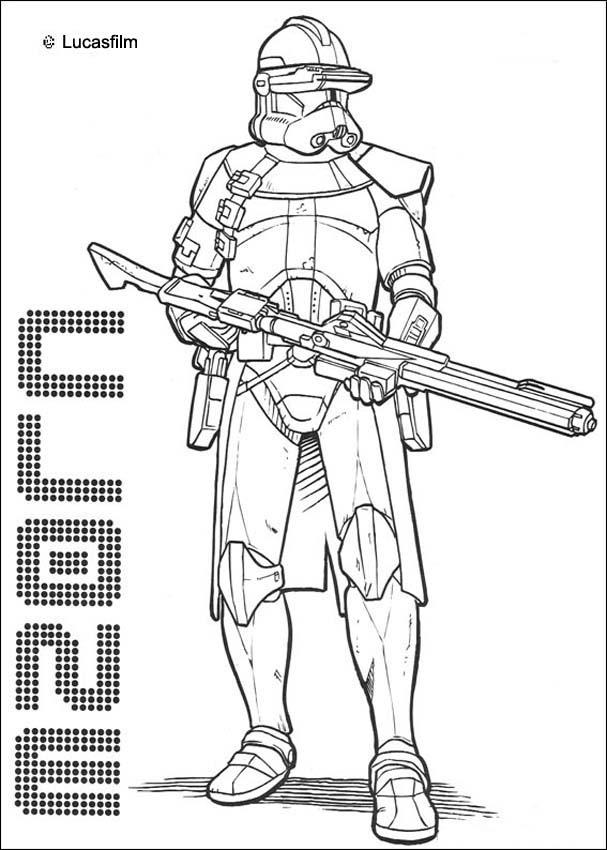 Coloriages coloriage star wars du commandant clone - fr.hellokids.com Lego Star Wars R2d2 Coloring Pages