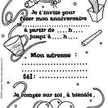 Coloriage Invitation Anniversaire Coloriages Coloriage à