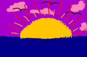 Comment dessiner coucher de soleil - Dessin coucher de soleil ...