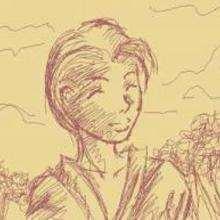 Dessin d'enfant : Visage crayonné