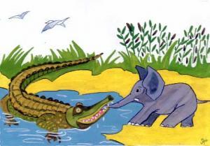 Comment dessiner crocodile et l phant - Dessin anime de crocodile ...