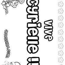 Cyrielle - Coloriage - Coloriage PRENOMS - Coloriage PRENOMS LETTRE C
