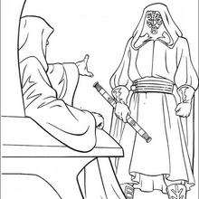 Coloriage STAR WARS de Dark Maul et l'empereur - Coloriage - Coloriage FILMS POUR ENFANTS - Coloriage STAR WARS - Coloriage DARK MAUL