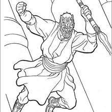 Coloriage STAR WARS du saut de Dark Maul - Coloriage - Coloriage FILMS POUR ENFANTS - Coloriage STAR WARS - Coloriage DARK MAUL