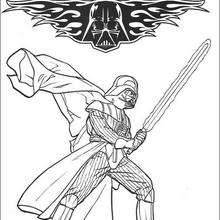 Coloriages coloriage star wars des soldats clone de l - Dark vador coloriage ...