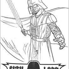 Coloriage STAR WARS de Dark Vador - Coloriage - Coloriage FILMS POUR ENFANTS - Coloriage STAR WARS - Coloriage DARK VADOR
