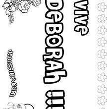 Deborah - Coloriage - Coloriage PRENOMS - Coloriage PRENOMS LETTRE D