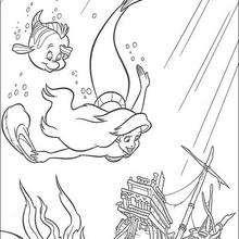 Coloriage Disney : La découverte de l'épave