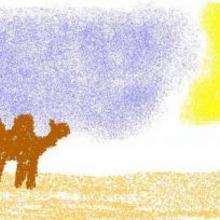 Dessin d'enfant : Desert