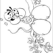 Coloriage de Diddlina sur la branche - Coloriage - Coloriage GRATUIT - Coloriage PERSONNAGE IMAGINAIRE - Coloriage de DIDDL