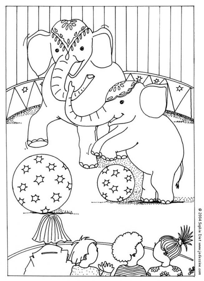 Coloriage d'éléphants