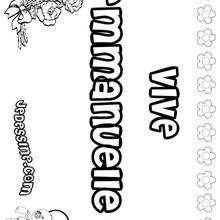 Emmanuelle - Coloriage - Coloriage PRENOMS - Coloriage PRENOMS LETTRE E