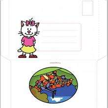 Enveloppe d'anniversaire Charivari (fille) - Activités - BRICOLAGE FETES - BRICOLAGE POUR PREPARER LES FETES - Bricolage Anniversaire et Fêtes d'enfants