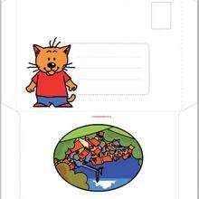 Enveloppe d'anniversaire Charivari (garçon) - Activités - BRICOLAGE FETES - BRICOLAGE POUR PREPARER LES FETES - Bricolage Anniversaire et Fêtes d'enfants