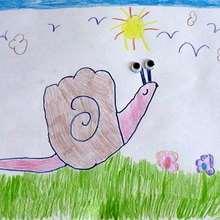Dessiner un escargot - Dessin - Apprendre à dessiner - Dessiner avec ta main