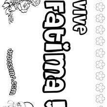 Fatima - Coloriage - Coloriage PRENOMS - Coloriage PRENOMS LETTRE F