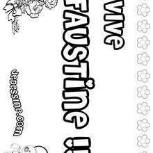Faustine - Coloriage - Coloriage PRENOMS - Coloriage PRENOMS LETTRE F
