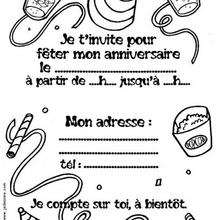 Coloriage d'un assortiment de fête