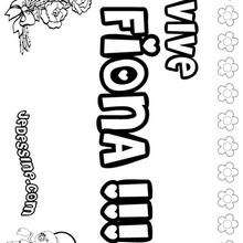 Fiona - Coloriage - Coloriage PRENOMS - Coloriage PRENOMS LETTRE F