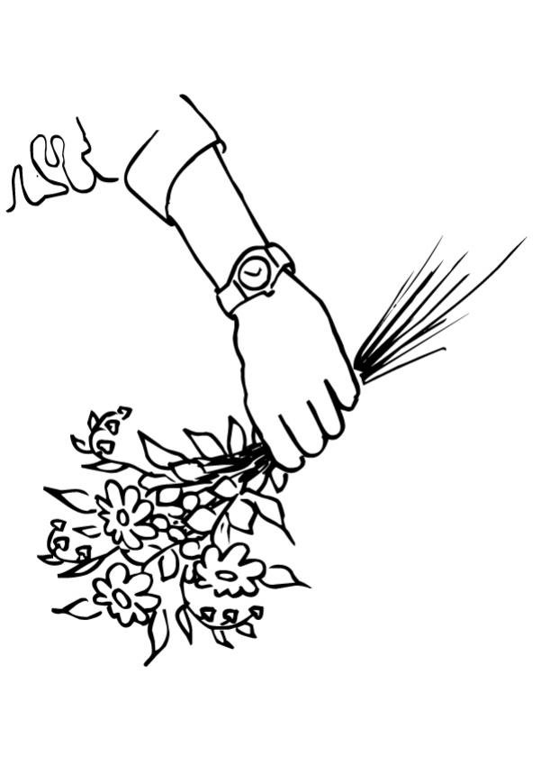 Fleur 10 - Coloriage - Coloriage de fleurs
